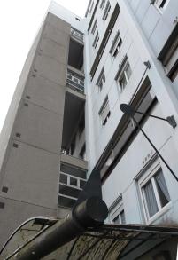 L'immeuble Boutaric, qui a déjà connu une première restauration il y a quelques années fait partie d'un projet de réhabilitation de l'office HLM Dijon Habitat.
